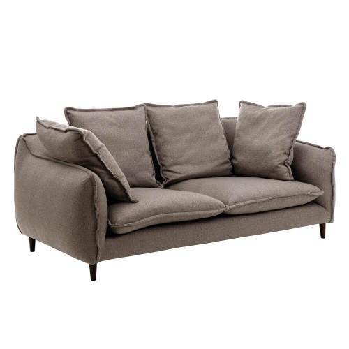Sofá 3 plazas tejido gris negro Sloan