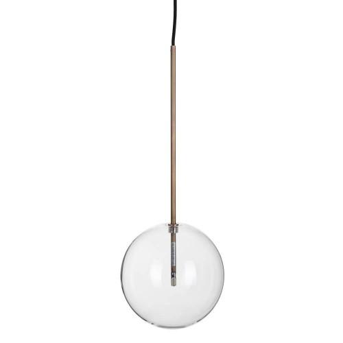 Lámpara Techo Logan M. Lámpara techo metal y cristal mediana. Denzzo.