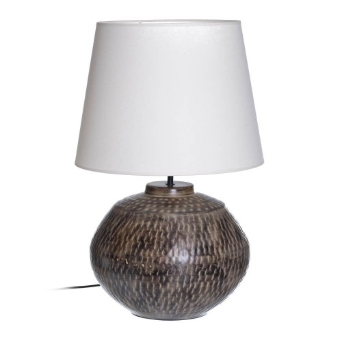 Lámpara mesa marrón metal Villach