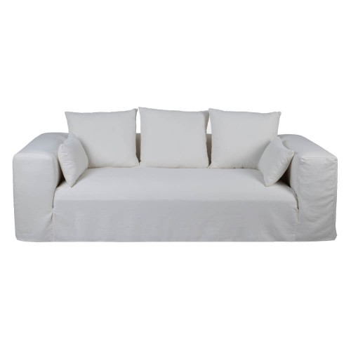 Sofá 3 plazas blanco roto lino Friburgo
