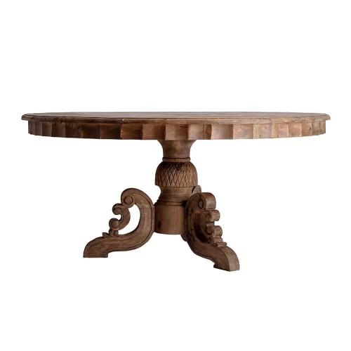 Mesa Comedor Canale. Mesa comedor natural madera pino. Vical.