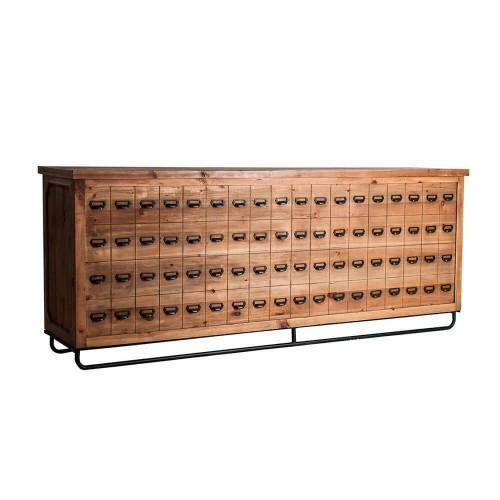 Mueble auxiliar natural madera de pino Atka