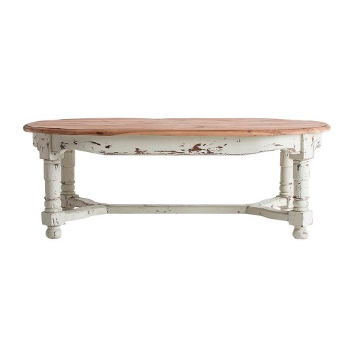 Mesa comedor natural blanco madera pino Avon