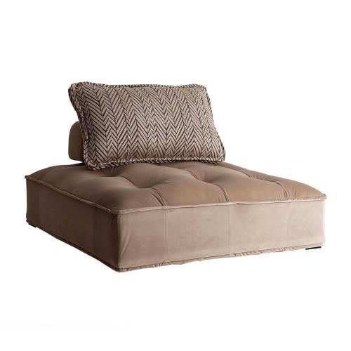Sofá marrón beige terciopelo y poliéster Hoover
