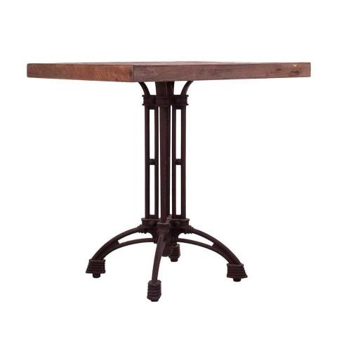 Mesa bar natural y negro hierro y madera olmo Glendale