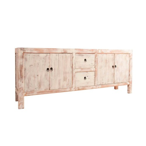 Mueble auxiliar  Filadelfia. Blanco natural madera pino. Vical.