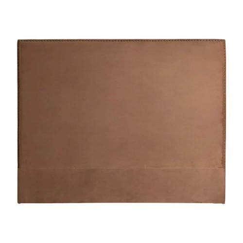 Cabecero marrón terciopelo madera de pino Basset