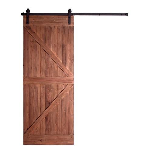 Puerta madera pino reciclado hierro natural envejecido Denio