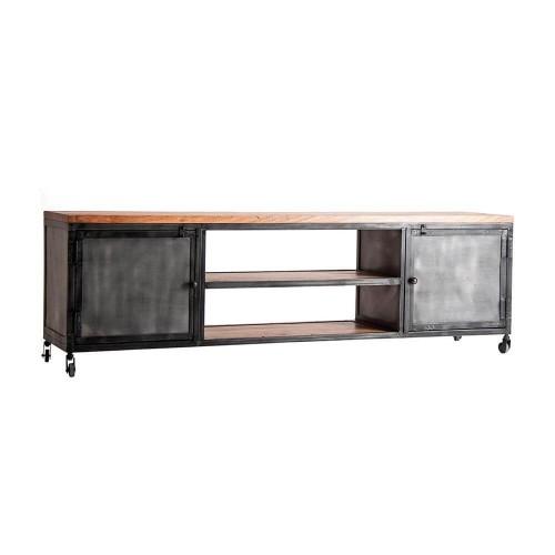 Mueble Calambá. Televisor madera mango hierro. Vical.
