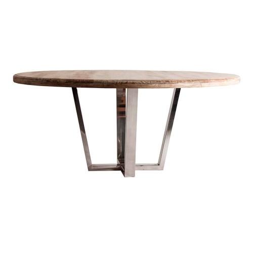 Mesa comedor madera mango acero Taúm
