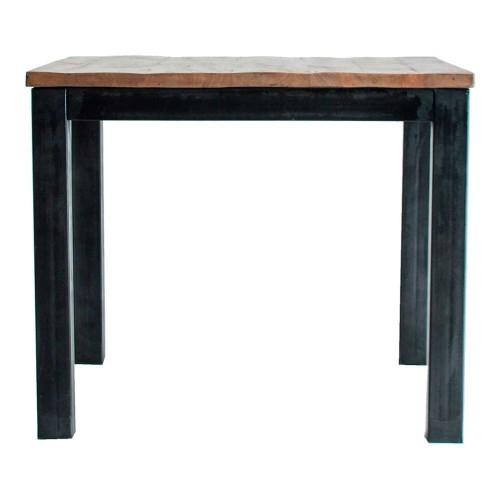 Mesa bar madera hierro natural Yap