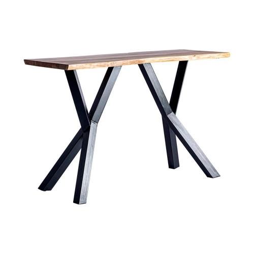 Mesa bar madera hierro negra y natural Lena