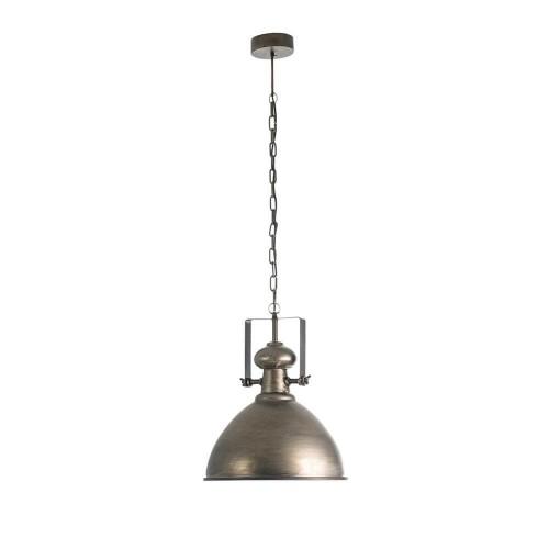 Lámpara techo gris hierro acabado oxidado Adhara