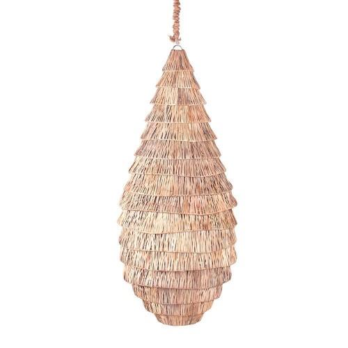 Lámpara techo natural ratán Dione