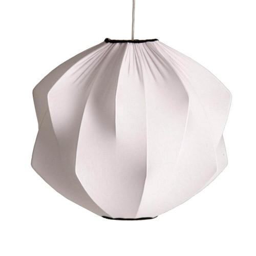 Lámpara techo blanca hierro y algodón Ofelia