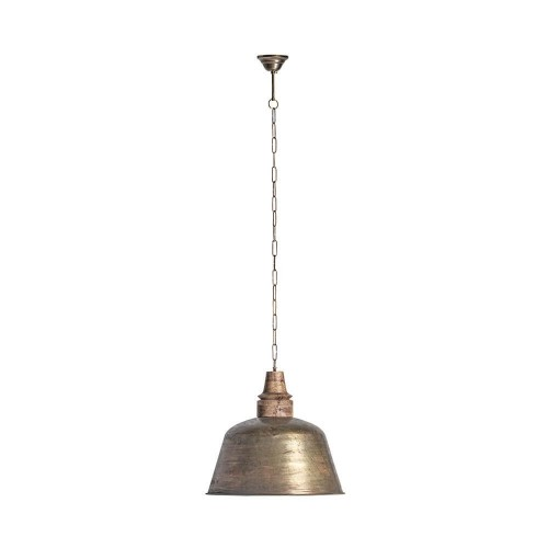 Lámpara techo dorada hierro Bobastro