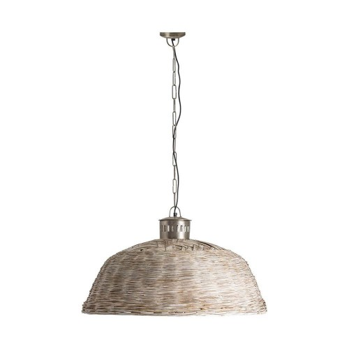 Lámpara techo natural bambú y hierro Mineta