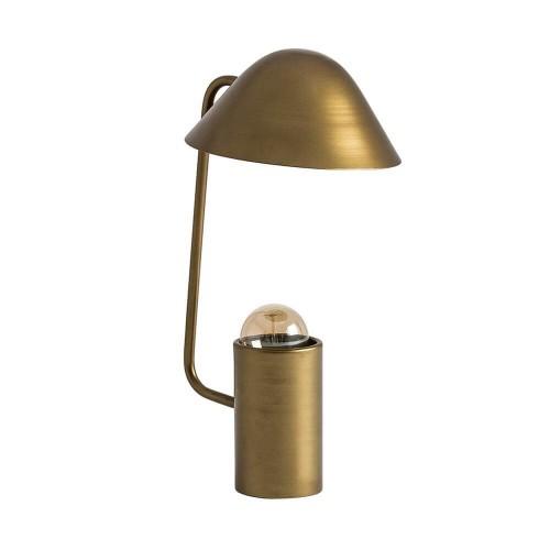 Lámpara mesa dorada hierro Atlas