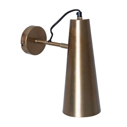 Lámpara pared dorada latón Tarvos