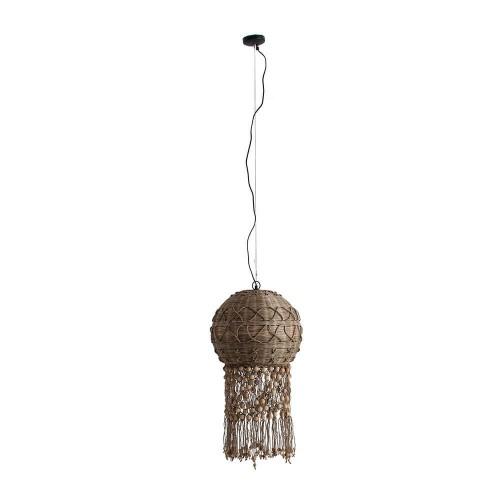 Lámpara techo natural bambú y yute Vega