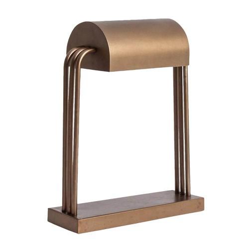 Lámpara mesa dorada latón Trotter