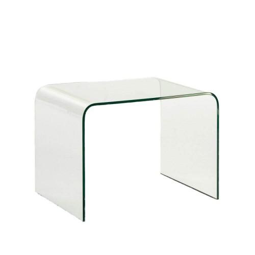 Mesa auxiliar Ulric. Cristal. Transparente. Thai Natura