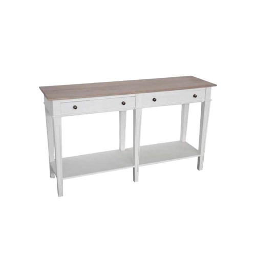 Consola Blanco. Consola 2 cajones madera blanco. Quaint & Quality.