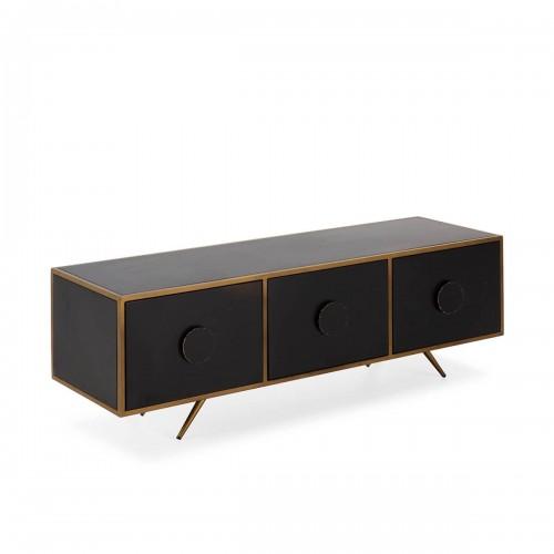 Mueble TV Fydor. Hierro. Negro y dorado. Thai Natura.
