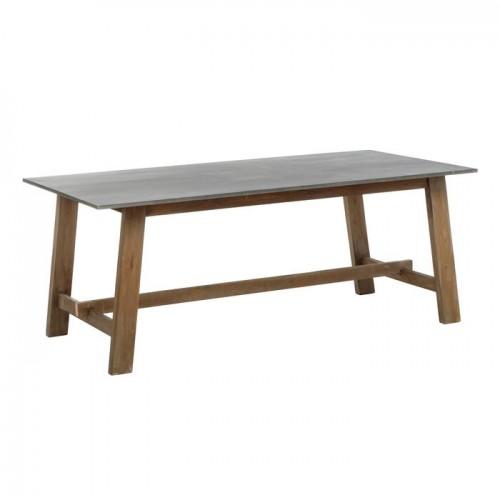 Mesa Comedor Bugara. Mesa comedor madera mindi y sobre MDF. Color natural. IXIA.