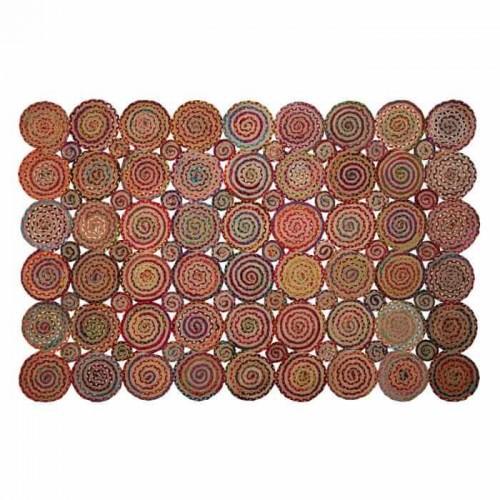 Alfombra Nayaris. Alfombra de yute multicolor. Ixia.