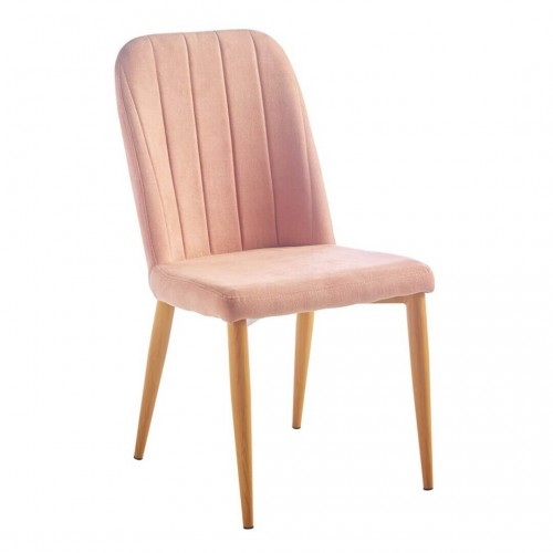 Silla Hollywood. Estructura madera DM. Tejido rosa.