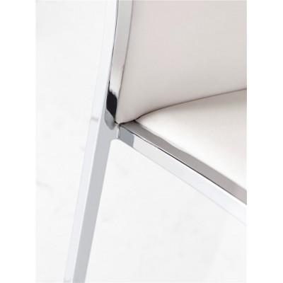 Silla Cler. Estructura hierro y PVC. Blanco.